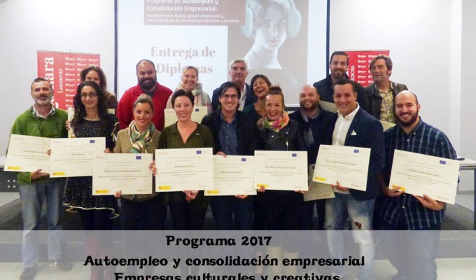 18 emprendedores del sector creativo concluyen con éxito su formaciónempresarial